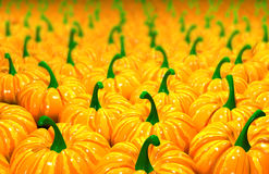 3d illustration background of pumpkins Royalty Free Stock Photos