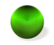 3D illustration of ball covered with green fiber. Royalty Free Stock Photos