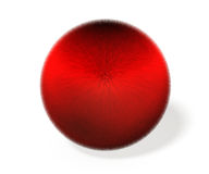 3D illustration of ball covered with red fiber. Royalty Free Stock Photography
