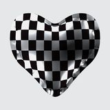 3d illustration of a balloon in the form of a heart, with a chess texture. Eps10. 3d illustration of a balloon in the form of a heart, with a chess texture Stock Photos