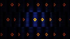 3d illustration of barrels with oil.  stock illustration