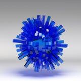 3d illustration basic geometric shapes Royalty Free Stock Image