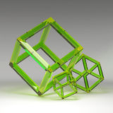 3d illustration basic geometric shapes Stock Photography