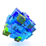 3d illustration basic geometric shapes Royalty Free Stock Image