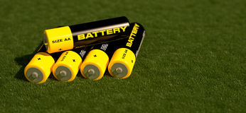 3d illustration of batteries Stock Photography
