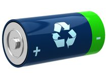 3D illustration of battery Royalty Free Stock Image