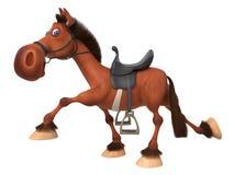 3d illustration beautiful Bay horse Royalty Free Stock Photos