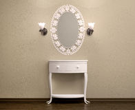 3d illustration of beautiful white dressing table Stock Images