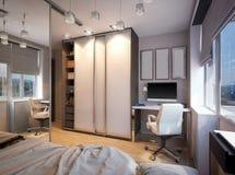 3D illustration of a bedroom for sibling. 3D render of a bedroom for sibling Stock Images