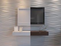 3d illustration of bedrooms in brown color. 3d render of bedrooms in brown color Royalty Free Stock Image