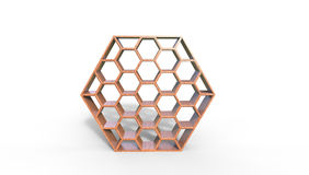 3d illustration of beehive shaped bookcase Stock Image