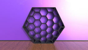 3d illustration of beehive shaped bookcase Royalty Free Stock Image