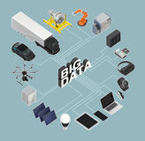 3D illustration of big data concept.  Stock Photo