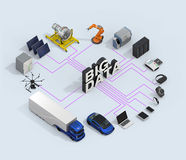 3D illustration of big data concept.  Royalty Free Stock Image
