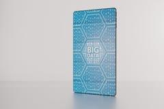 3D illustration of big data text displayed on futuristic bezel-f Royalty Free Stock Photo