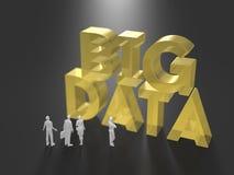 3D illustration of big data utilization Stock Photos
