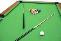 3D illustration Billiard balls in a green pool table, pool billiard game, Billiard concept. 3D illustration Billiard balls in a green pool table, pool billiard Stock Images
