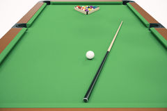 3D illustration Billiard balls in a green pool table, pool billiard game. Billiard concept. 3D illustration Billiard balls in a green pool table, pool billiard Stock Photo