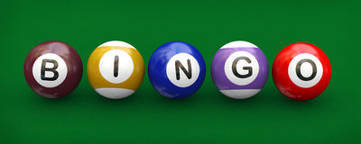 3d billiard pool balls bingo Royalty Free Stock Images