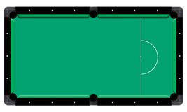3D illustration billiard table, top view  white backgrou. Royalty Free Stock Photo