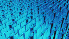 3D illustration of Binary digital code abstract background. Royalty Free Stock Photo