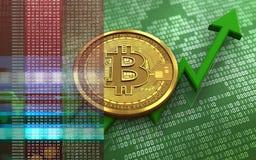 3d bitcoin Royalty Free Stock Photos
