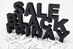 3D illustration Black Friday, sale message for shop. Business shopping store banner for Black Friday. 3d text in black vector illustration