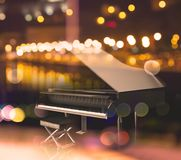 3d illustration of black grand piano. Stock Photography
