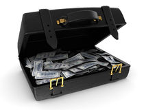 Suitcase with money Royalty Free Stock Photo