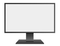 3D illustration Black LED Computer Mornitor with blank screen on Stock Photography