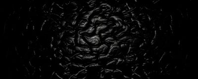 3d illustration Black Wavy Abstract Leather Background vector illustration