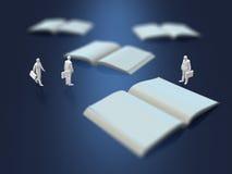 3D illustration of blank books Stock Photo