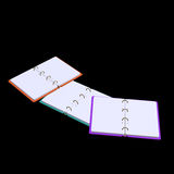 3d illustration of blank notepad Royalty Free Stock Photo