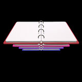 3d illustration of blank notepad Stock Images