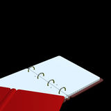 3d illustration of blank notepad Stock Photo