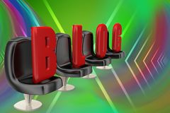 3d illustration of a blog Royalty Free Stock Photography