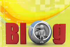 3d illustration of a blog illustration Stock Photography