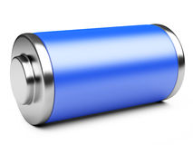 3D illustration of blue battery Stock Photo