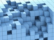 3d illustration of blue cubes Royalty Free Stock Photography