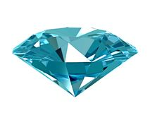 3d illustration. Blue diamond isolated on white background royalty free illustration