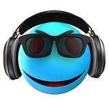3d blue emoticon smile Royalty Free Stock Images
