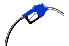 3D illustration blue fuel nozzle on a white Stock Images