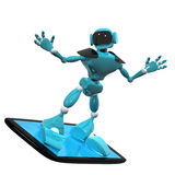 Robot on a smartphone Stock Photo
