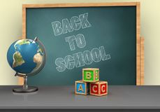 3d back to school Royalty Free Stock Images