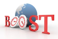 3d illustration of boosting web traffic Royalty Free Stock Photo
