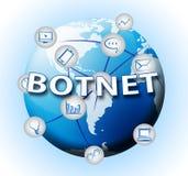 2d illustration Botnet för olagligt Scam nätverksbedrägeri stock illustrationer