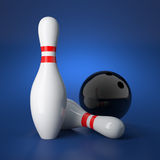 Bowling concept Stock Photography