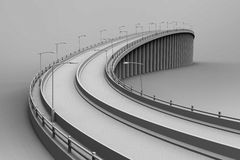 3d illustration of a bridge Stock Photos