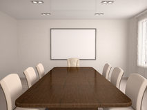 3D illustration of a bright conference room Royalty Free Stock Image