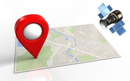 3d bright map Royalty Free Stock Photo